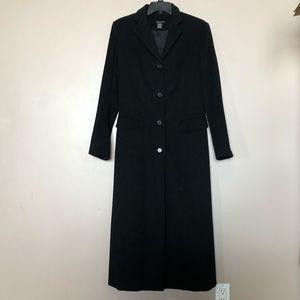 Castro Concept Women's Long Black Wool Coat Size 6